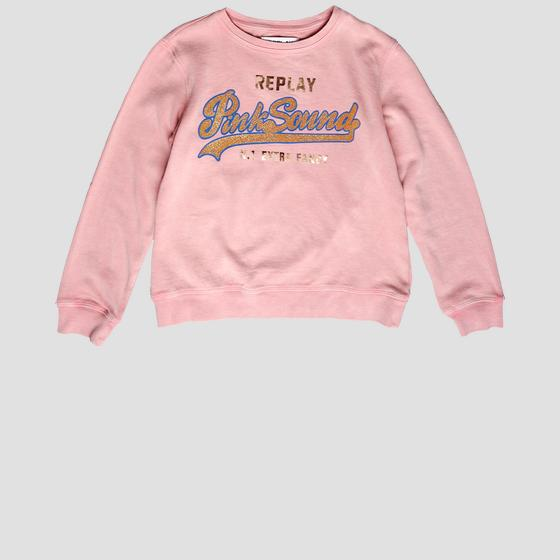 Sweatshirt with glitter lettering print sg2059.059.22072