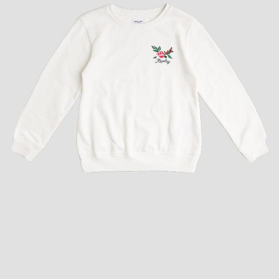 Crewneck sweatshirt with ROSE LABEL embroidery sg2059.065.22964