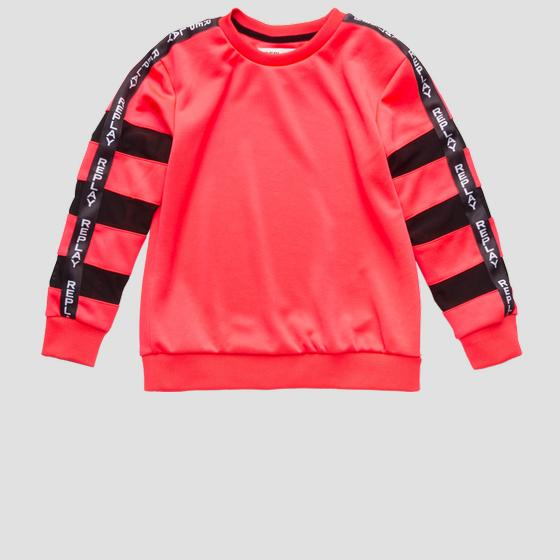Sweatshirt with transparent stripes sg2090.050.22610