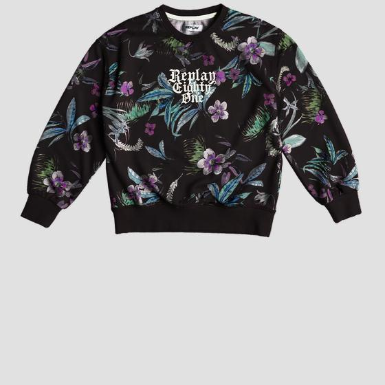 Floral REPLAY sweatshirt sg2095.050.29868ki