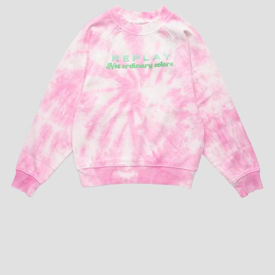 Crewneck tie dye REPLAY sweatshirt sg2100.050.23164