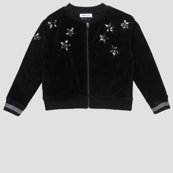 Sweatshirt with stars and glitter detail sg2410.050.20610