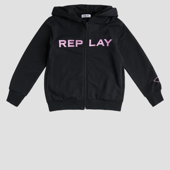 Hoodie with glitter print sg2427.020.20238