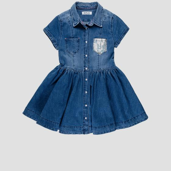 Denim dress with collar sg3197.050.165