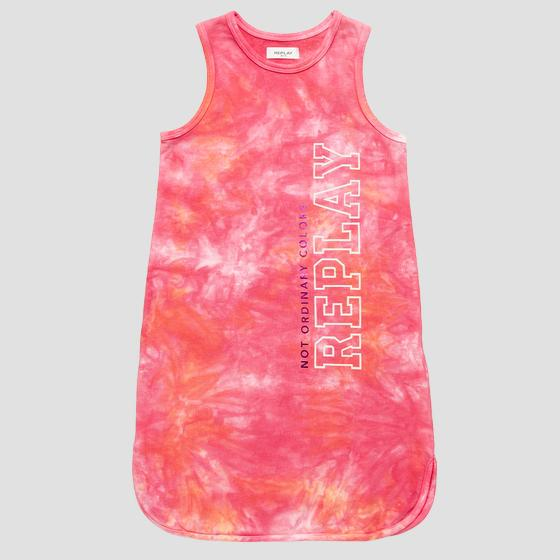 Sleeveless tie dye REPLAY dress sg3201.051.23164