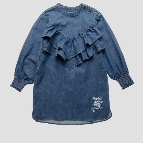 Denim dress with frills sg3610.050.165