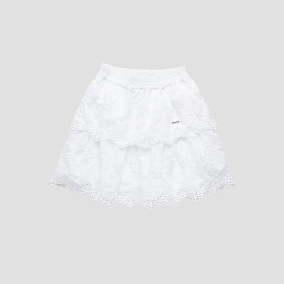 Broderie anglaise mini skirt with frills sg4473.050.84118