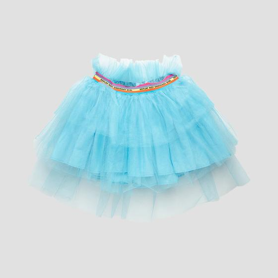 Tulle pleated skirt with frills sg4474.050.80004