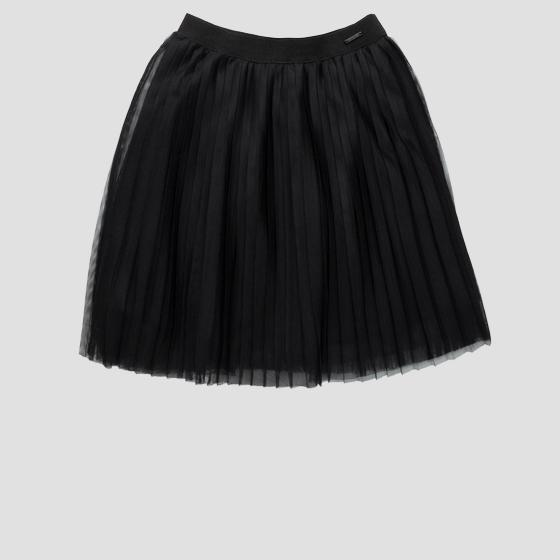 Skirt in pleated tulle sg4713.050.80004