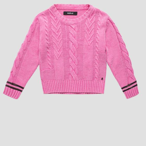 Sweater with weaved detail sg5029.050.g22474g