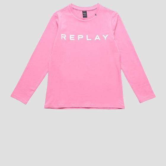 Jersey t-shirt with REPLAY print sg7091.010.20230