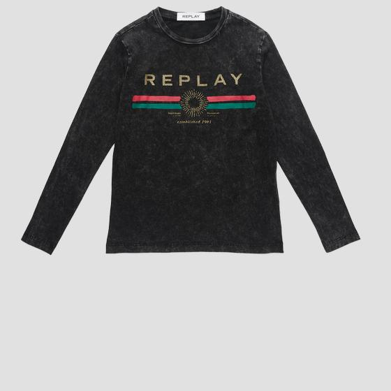 REPLAY ESTABLISHED 1981 t-shirt sg7091.065.22658m