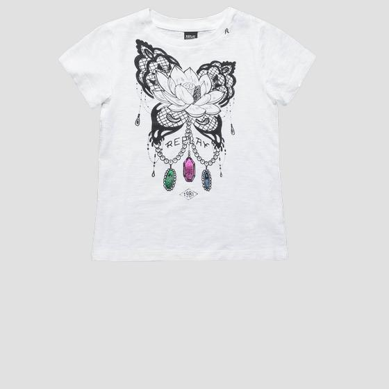 Cotton t-shirt with print sg7471.050.22676p