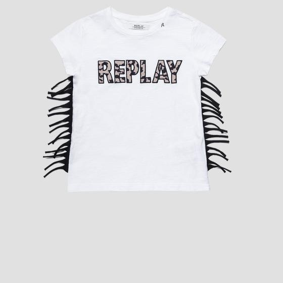 REPLAY t-shirt with fringes sg7472.051.22676p