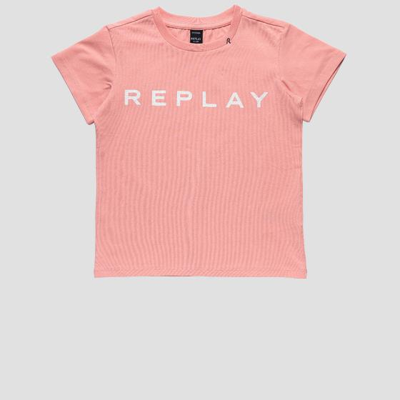 Jersey t-shirt with REPLAY glitter print sg7479.010.20230