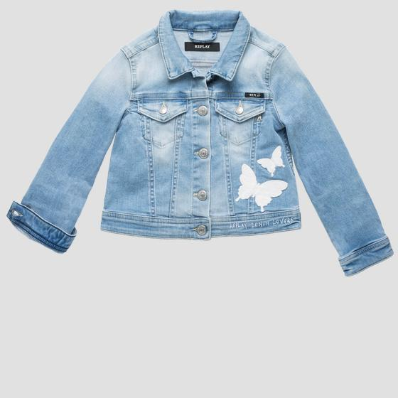 Embroidered denim jacket sg8203.050.93a 468
