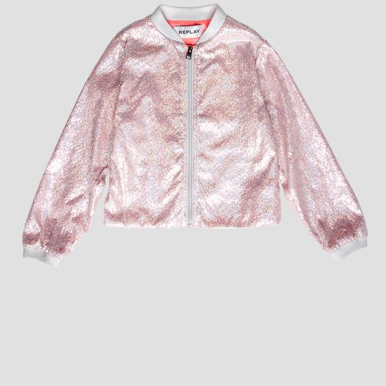 Nylon jacket with sequins sg8228.050.83618