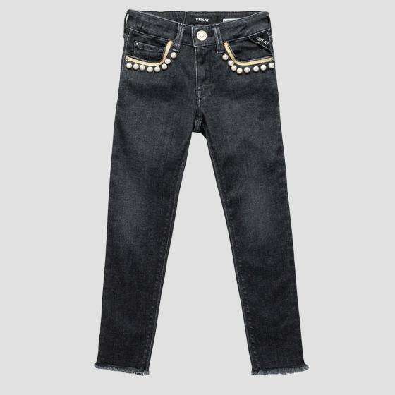 Skinny Fit Jeans mit Applikationen sg9318.050.75c 425