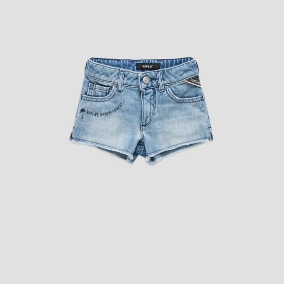 Shorts in denim con scritta sg9569.053.100 445