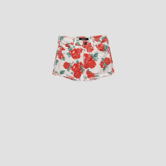 Shorts with all-over roses print sg9593.050.7143107