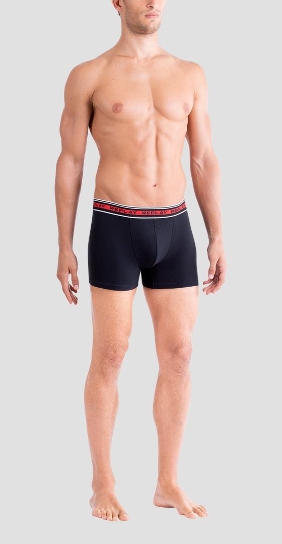 Pack of 2 boxer briefs with contrast striped waistband tm187 .000.i101187