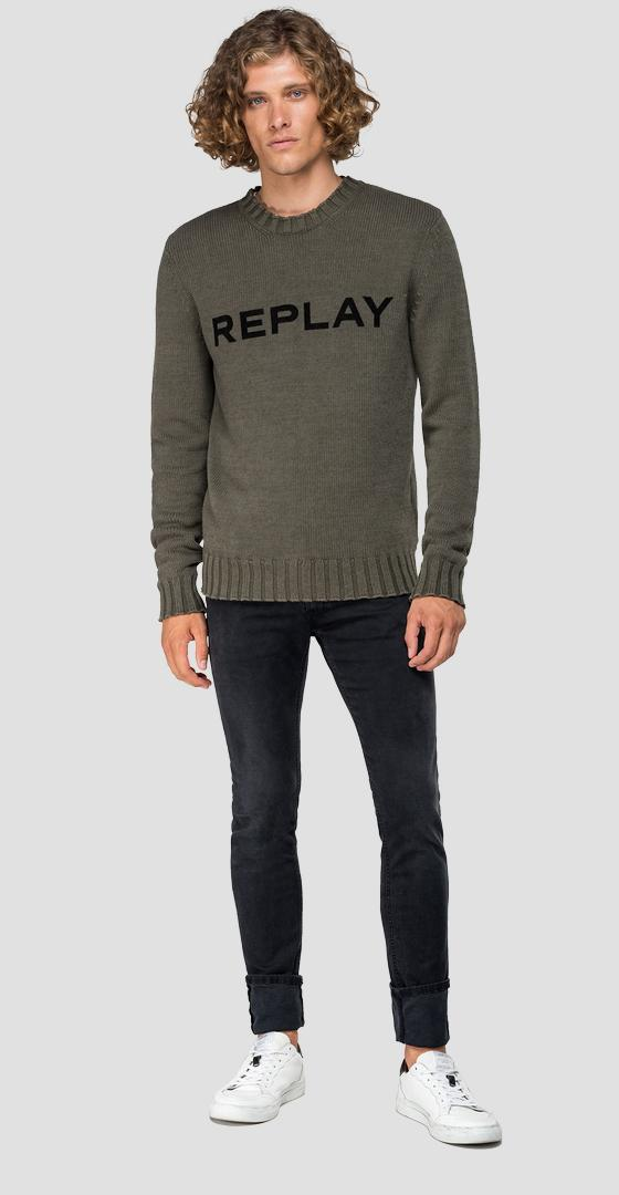 REPLAY writing sweater uk3054.000.g22454g