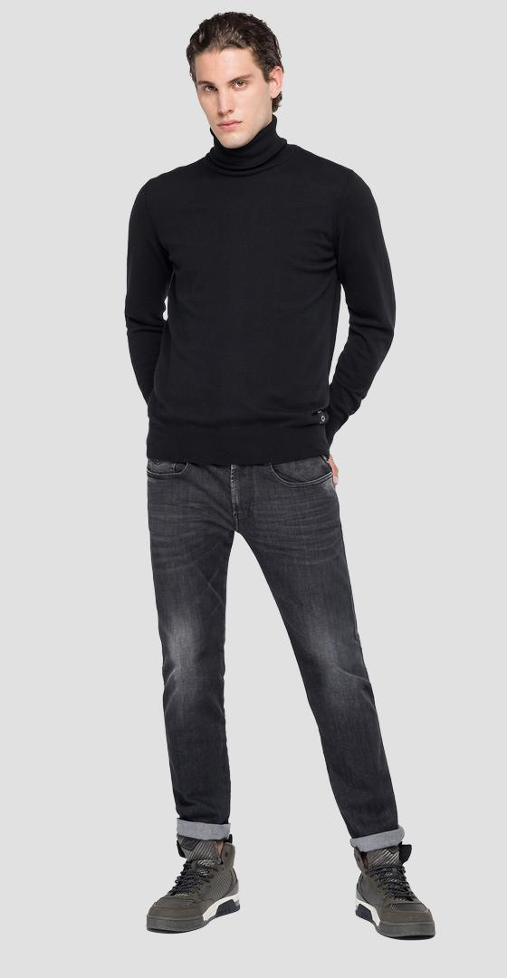 Turtleneck sweater in wool and cotton uk3060.000.g20990