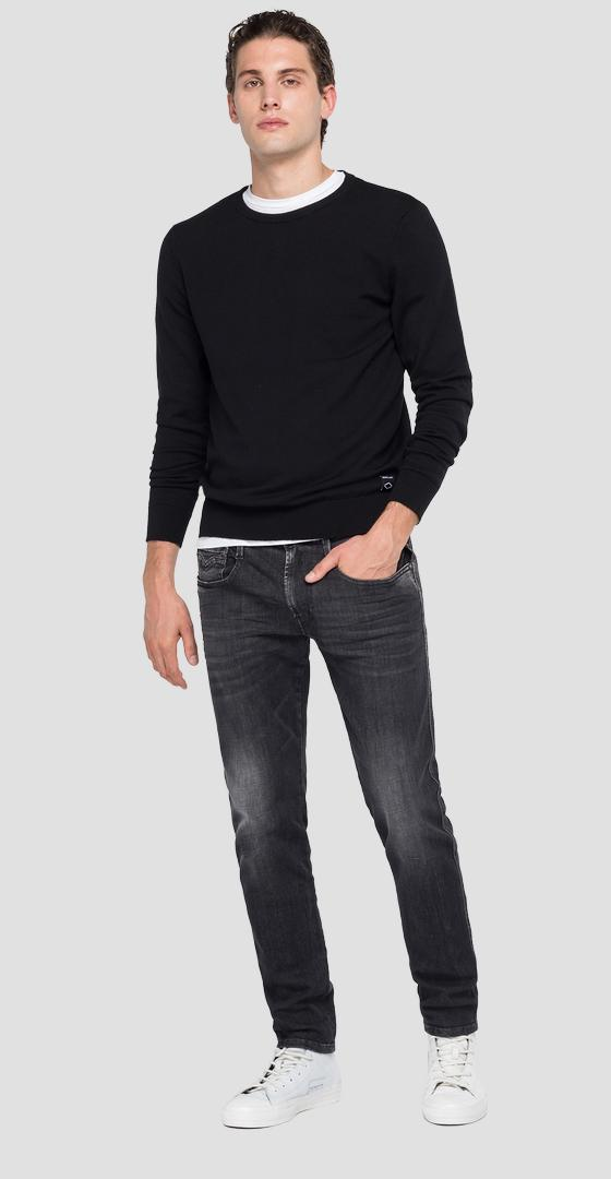 Crewneck sweater in Merino wool uk3080.000.g22734