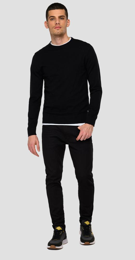 Essential Crewneck pullover in cotton and cashmere uk8300.000.g23138