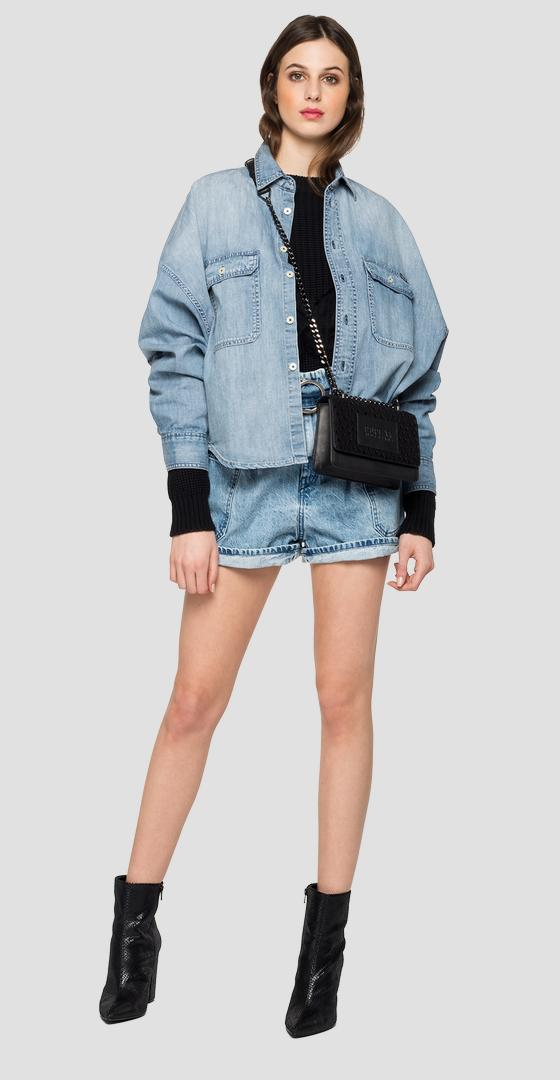 Oversized denim shirt w2000 .000.26c 756