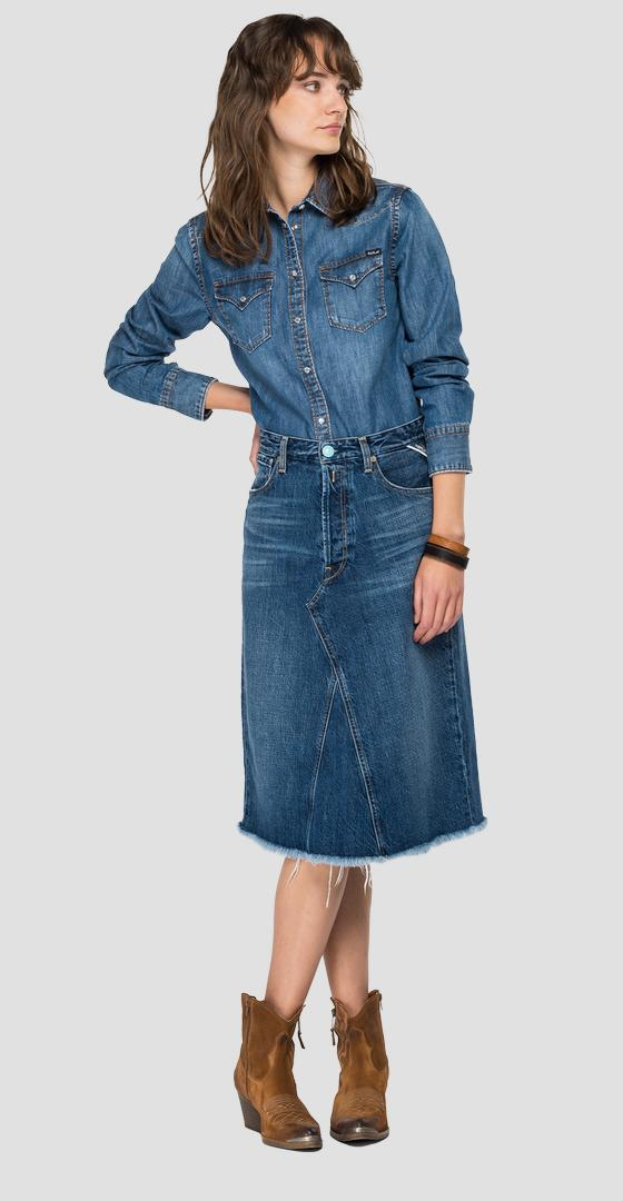ROSE LABEL denim shirt w2001 .000.26c 81a