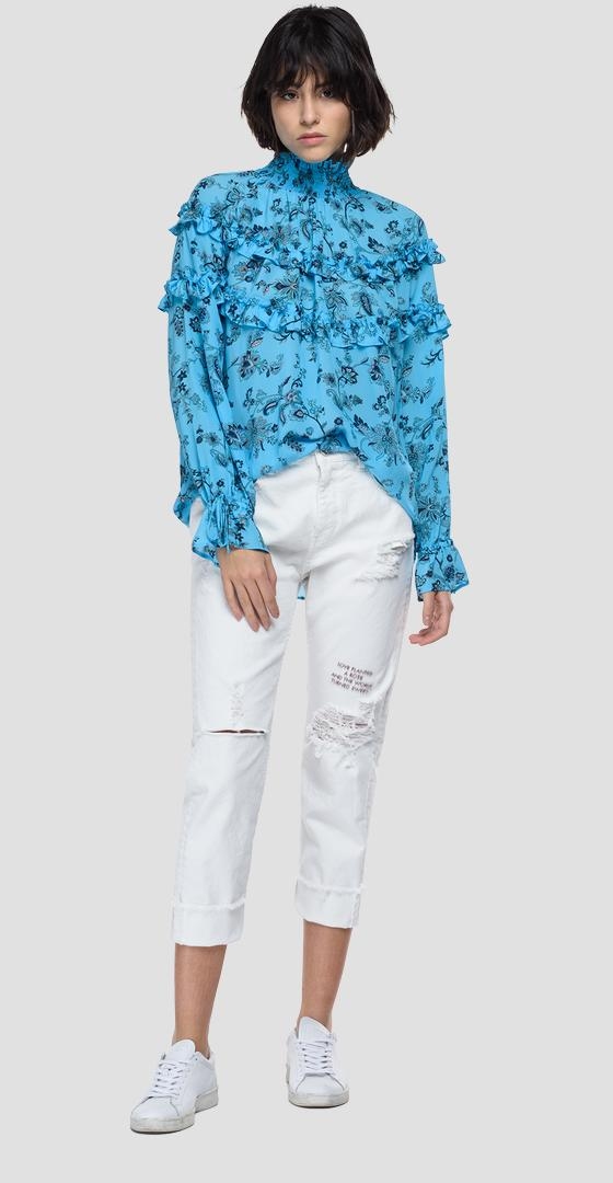 Chiffon shirt with all-over print w2063 .000.73500