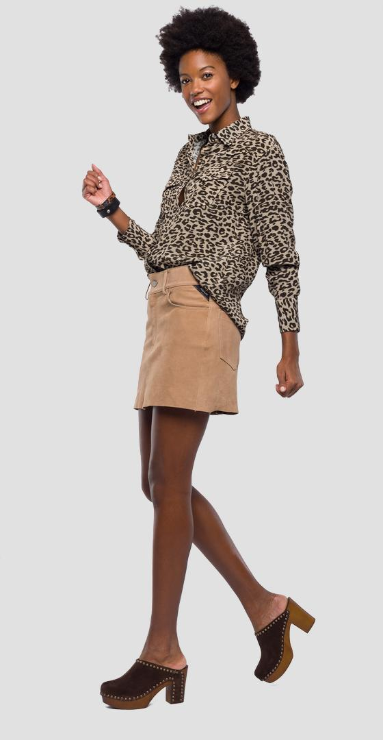 Shirt with animalier print w2203 .000.71750