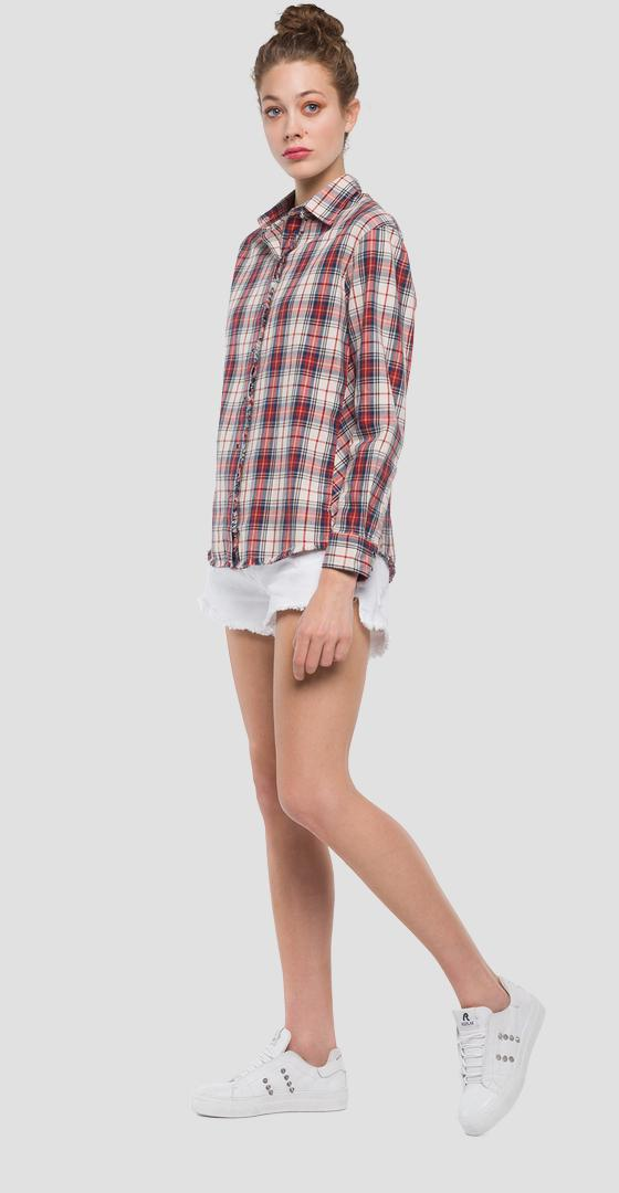Shirt with checked print w2206 .000.52110