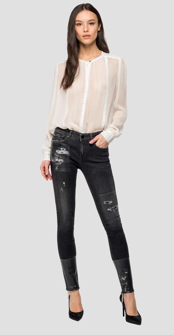 Georgette shirt with studs w2323 .000.83202