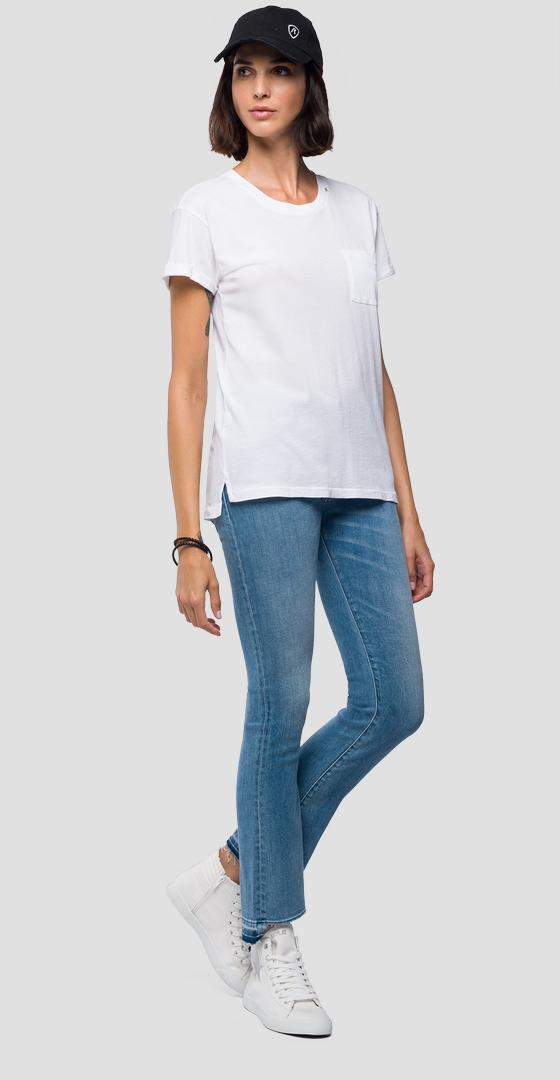 Basic t-shirt with pocket w3155a.000.22042p