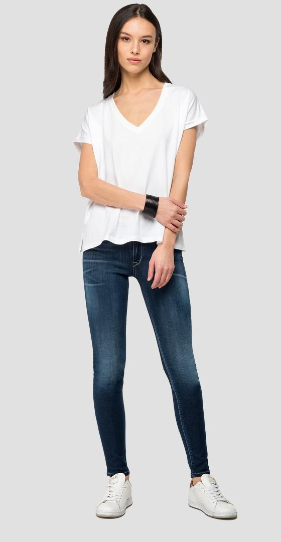 V-neck t-shirt with REPLAY writing w3302a.000.22832p