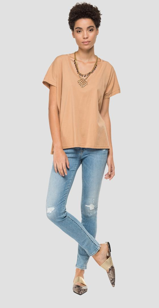 T-shirt with necklace and pendants w3302 .000.22832p