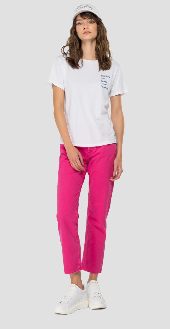 ROSE LABEL slim fit t-shirt in cotton w3334 .000.23150p