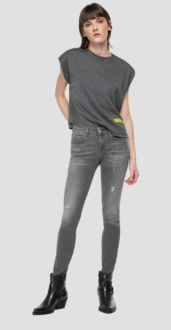 REPLAY THE FORTY YEARS boxy fit t-shirt w3568a.000.22658hm