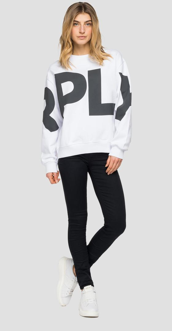 Oversized sweatshirt with REPLAY print w3581 .000.22890p