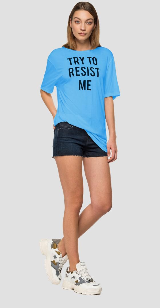T-shirt viscosa TRY TO RESIST ME w3819d.000.22838g