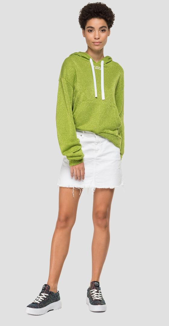 Hoodie with lurex w3878 .000.22672