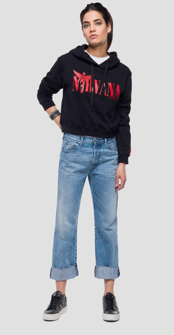 Sweat-shirt Replay Tribute Nirvana w3939 .000.21842