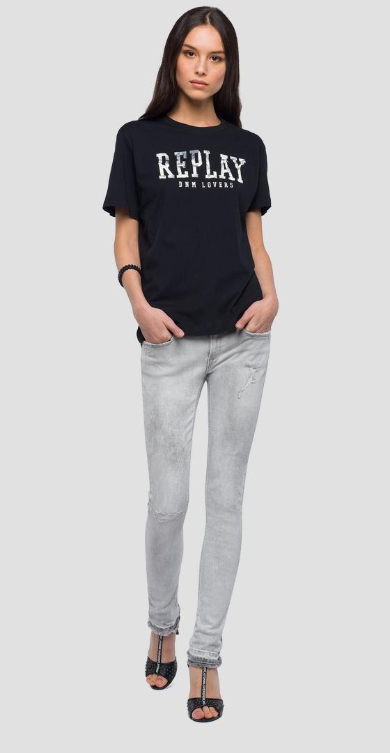 T-shirt with contrasting writing w3940g.000.20994