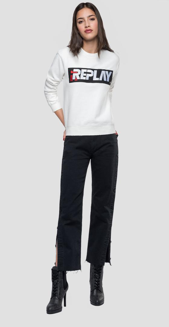 Sweatshirt with embroidered logo w3971l.000.21842