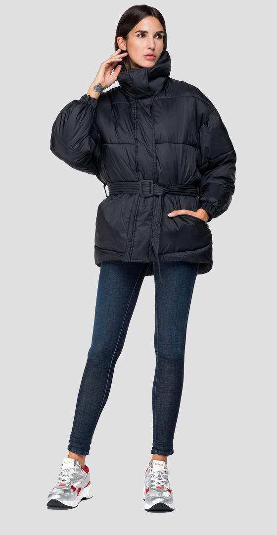 Padded jacket with belt w7492 .000.83108