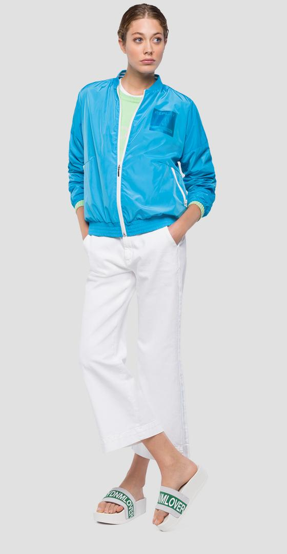 Technical jacket with REPLAY patch w7504 .000.83320