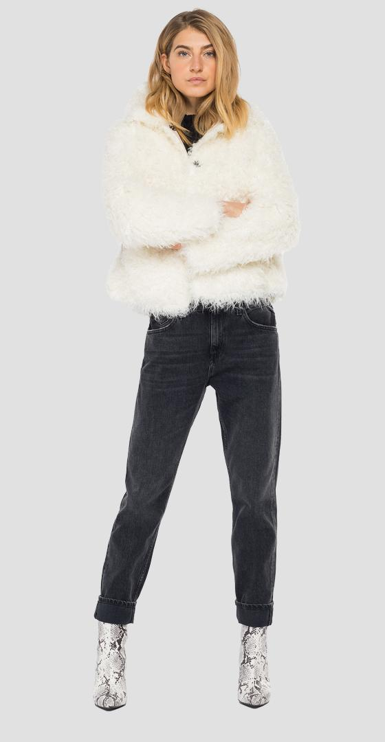 Eco fur jacket w7637 .000.83868