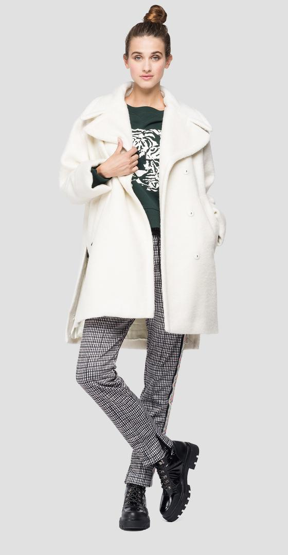 Manteau long à col revers w7645 .000.83784
